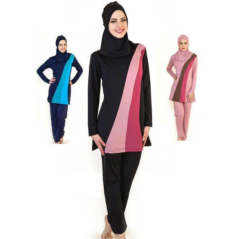 Nouveau musulman femmes Spa maillot de bain islamique maillot de bain intégral Hijab vêtements de plage de natation maillot de bain Sport vêtements Bikinis surf