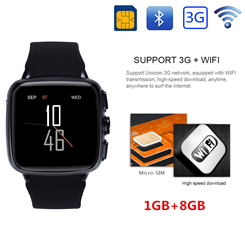 Original Android Clock 1GB+8GB Phone Z01 Heart Rate Health Monitor Smartwatch Camera WIFI GPS Bluetooth Support SIM TF Card no 1 d6 1 63 inch 3g smartwatch phone android 5 1 mtk6580 quad core 1 3ghz 1gb ram gps wifi bluetooth 4 0 heart rate monitoring