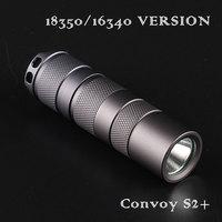 18350/16340 version Convoy S2+ Gray Cree XML2 U2 1A EDC LED Flashlight,torch,lanterncamping light, lamp,for bicycle