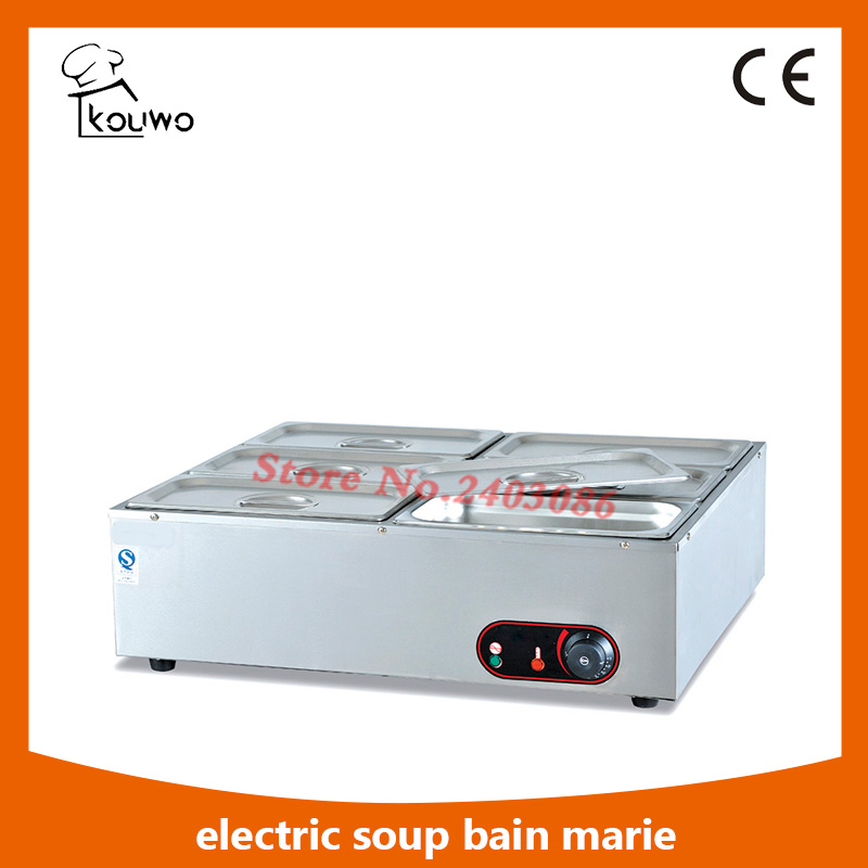 Commercial table counter top stainless steel electric catering equipment 6 Pans hot soup food warmer Bain Marie for sale