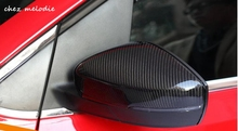 1pair glossy Carbon Fiber Car outside exterior rearview Mirror caps Covers For Volkswagen GOLF 6 GTI MK6, replacing type