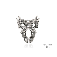Vintage Double Dragon Viking Pendant