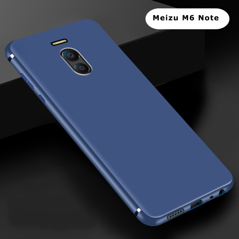 Ultra thin solid color silicone <font><b>case</b></font> M6 Note funda carcasa coque hoesje matte frosted tpu cover for <font><b>meizu</b></font> m6 <font><b>m6s</b></font> kryt tok etui image