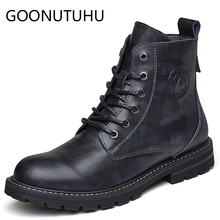 Fashion men's boots casual leather military shoes male autumn & winter work safety boot man snow shoe combat ankle boots for men spring autum army combat boots leather men work safety shoe steel toe security shoes for men winter snow boot ankle suede