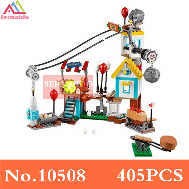 10508 405PCS Comaptible With 75824 Birds Pig City Teardown Models Building Blocks Bricks Toys GIfts for Children B194