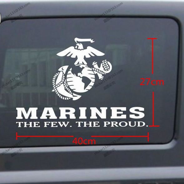 4027cm united states marine corps marines usmc few proud car decal sticker for jeep