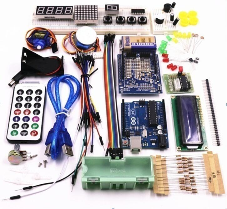 Updated version beginners starter kit for font b Arduino b font UNO R3 Learning Suite Kit