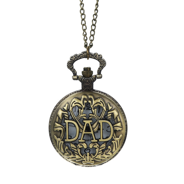 #5008 Vintage Chain Retro The Greatest Pocket Watch Necklace For Grandpa Dad Gif