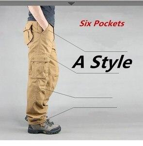 Image 3 - 男性カーゴパンツ 2019 秋の戦術的なパンツカジュアル綿のズボンの男性マルチポケット軍トラックパンツ男性パンタロンオム