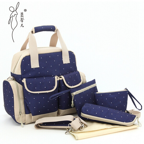 Baby Carriage Bag Diapers Bags Mother Nappy Bag Handbag Fashion High Quality Free Shipping LXEM115