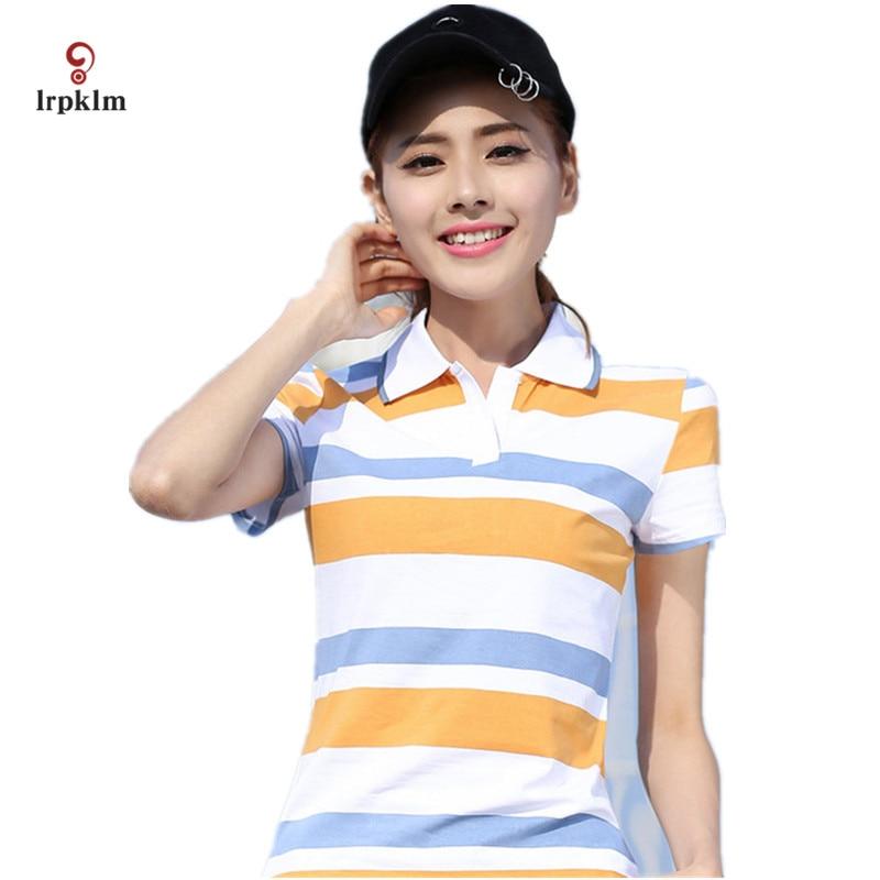 2017 Causal Slim Short Sleeve Fashion Shirts font b Polo b font font b Women b