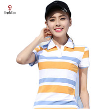 2017 Causal Slim Short Sleeve Fashion Shirts Polo Women Plus Size Fashion Yellow Blue Cotton polo femme cheval Ladies Polo YY675