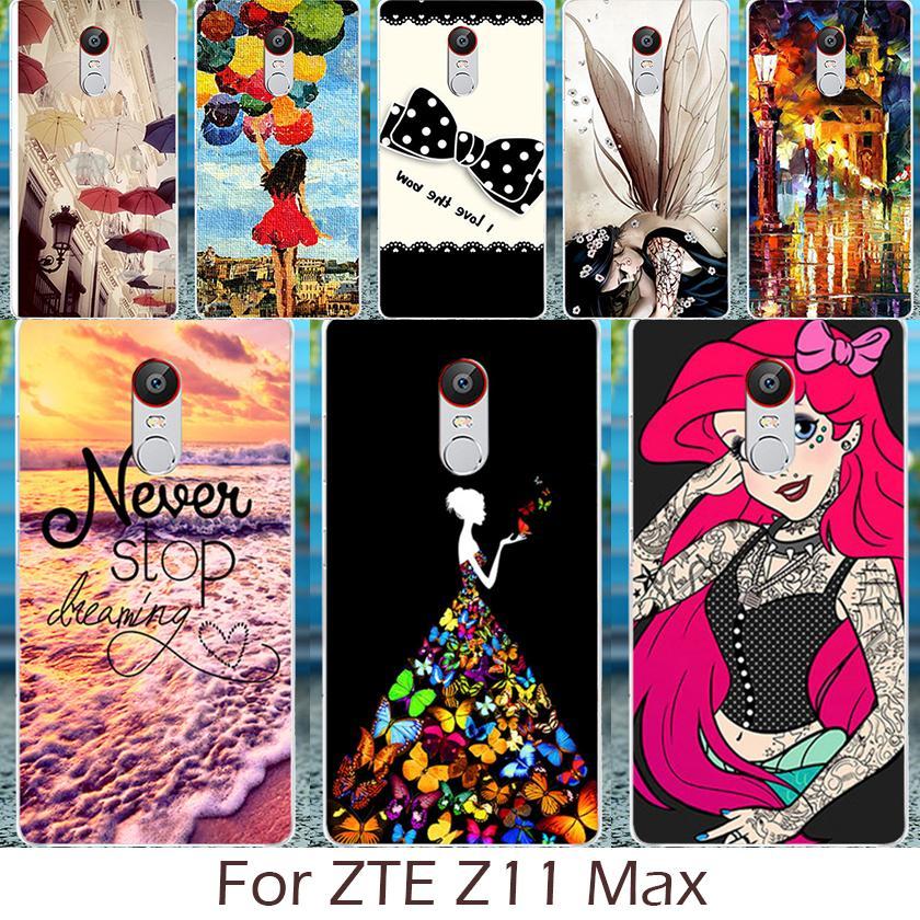 Akabeila жесткий Пластик Телефон чехол для zte Нубия Z11 Max NX523J крышка Shell кремния Мягкие TPU DIY окрашены
