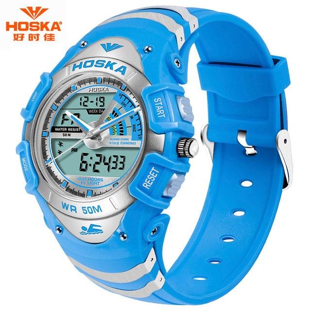 2017 Famous Brand HOSKA Children Sport Watch G Style Waterproof Military Watches Shock Analog Men's Quartz Digital Watches HD011