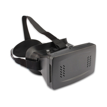 Head Mount Plastic Version VR Virtual Reality Glasses Magnet Control Google Cardboard 3D Glass for 3.5-6 Inch Phone