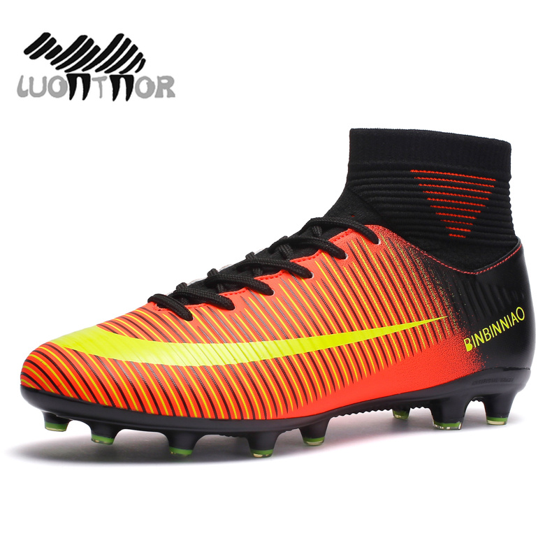 ffd944f753 Long Spikes   Short Spikes Ankle High Tops Soccer Cleats Boots Football  Boots Men s ...