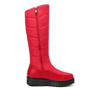 Image 4 - Женские зимние ботинки MEMUNIA, теплые ботинки до середины икры на меху с нескользящей резиновой подошвой на молнии, 2020