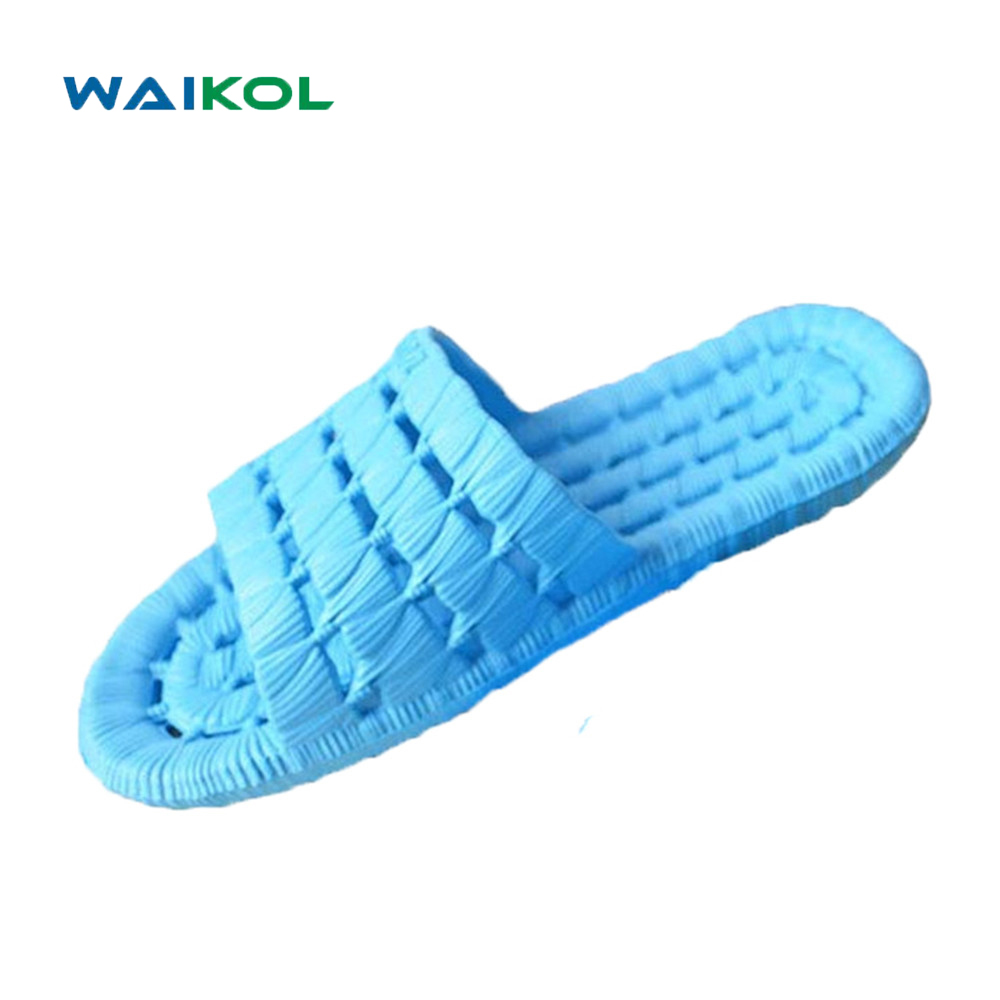 Waikol 10%OFF! Women Shoes Hot Sale New Summer Cut-outs Flats Sandals Non-slip Bathroom Slippers Home Massage Slippers waikol durable summer men sandals comfortable massage slippers indoor