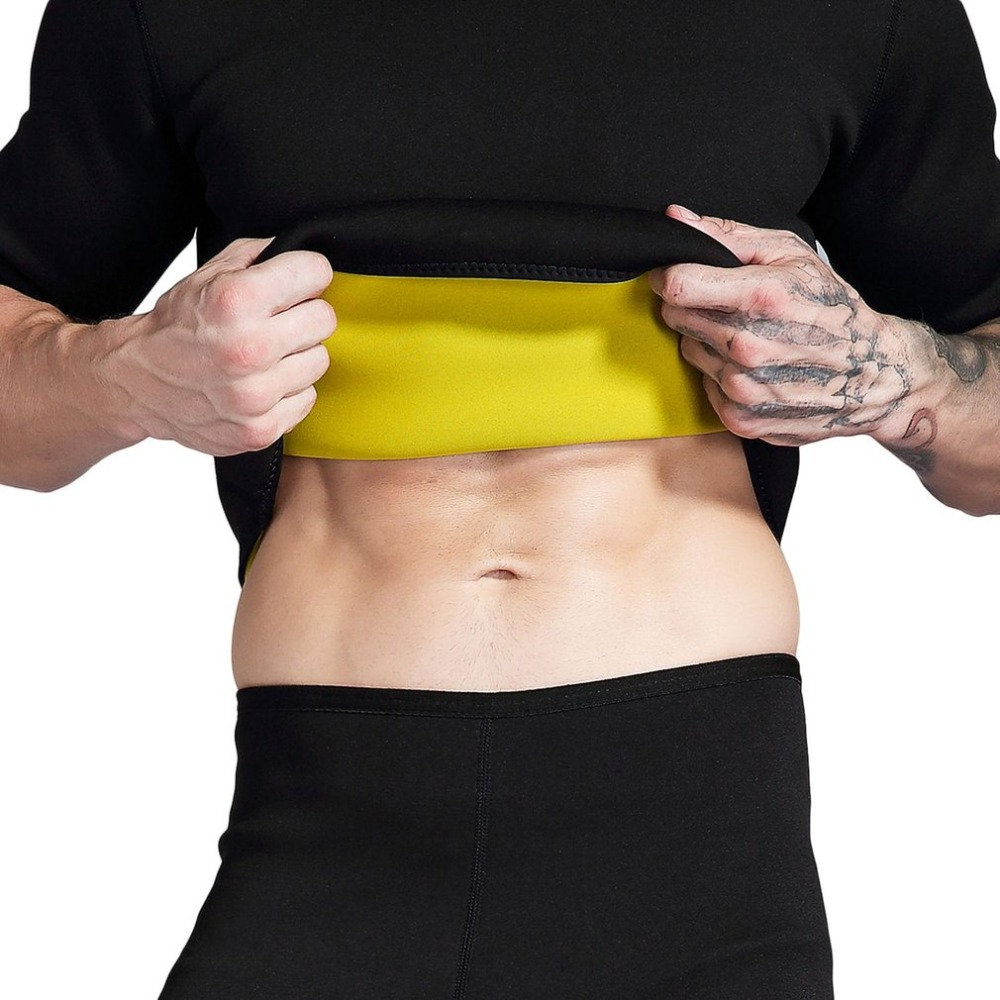 Slimming body shaper Mens slimming shirt Neoprene abdomen Fat Burning Shaperwear body Waist sweat corset stretch slim tshirt &3