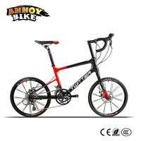 Light 8.6kg 20 Road Bike 16 speed 42cm Carbon Fiber Frame BMX Bicycle Twitter With Shimano Speed System & Mechanical Disc Brake