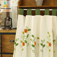 Window Valance Half Curtain Coffee Roman Curtain Small Panel Drape For The Kitchen Cabinet Tab Tape