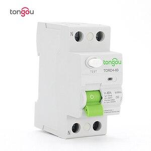 AC 2P 40A 10mA Electronic type RCCB RCD 110V 230V Residual Current Circuit Breaker TORD4-63(China)