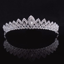 3 Designs Gorgeous Silver Crystal Bridal Tiara Crown Bride Headbands Women Prom Hair Ornaments Wedding Hair Jewelry Accessories