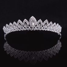 3 Designs Gorgeous Silver Crystal Bridal Tiara Crown Bride Headbands Women Prom Hair Ornaments Wedding Hair Jewelry Accessories(China)