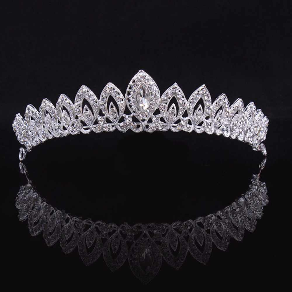 ae626caf72 3 Designs Gorgeous Silver Crystal Bridal Tiara Crown Bride Headbands Women  Prom Hair Ornaments Wedding Hair Jewelry Accessories