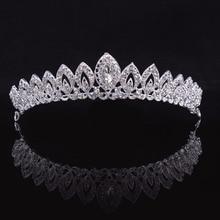 3 Designs Gorgeous Silver Crystal Bridal Tiara Crown Bride Headbands Women Prom Hair Ornam