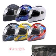цена на 2019 Motorcycle Helmet Motocross Full Face Helmet Casco Casque Men Women Winter Bib Racing Capacete Moto Helmet