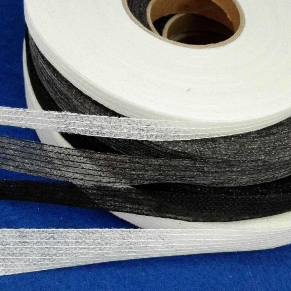 100 Meters Non-woven Fabric Fusible Single Side Adhesive Tape White or Black Interlining Cloth Lining to Prevent Transformation