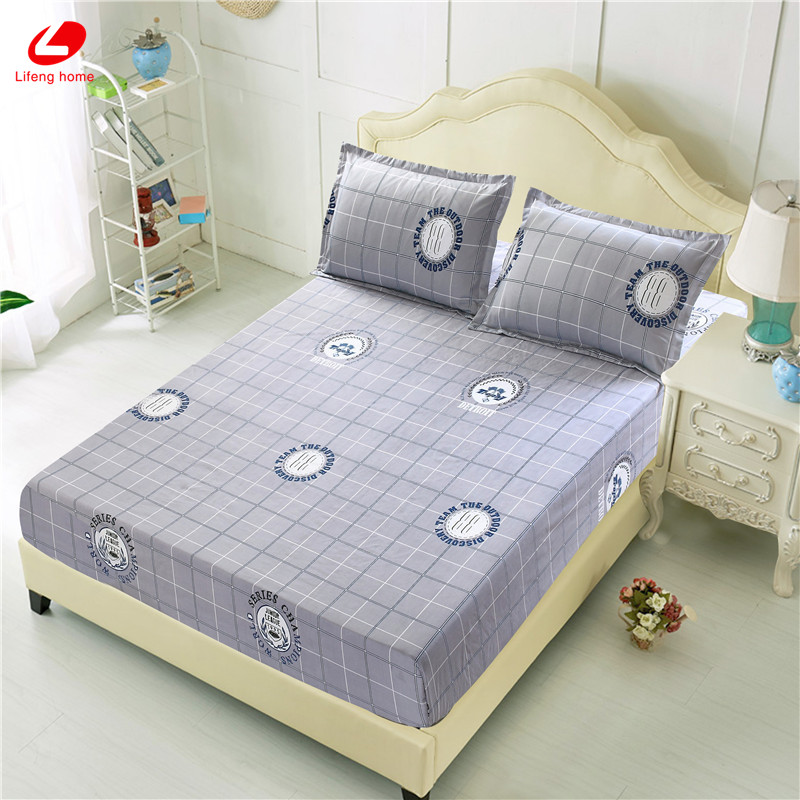 Home textile bed sheet sheet flower mattress cover printing bed sheet elastic rubber bedclothes 180*200cm summer bedspread band 34