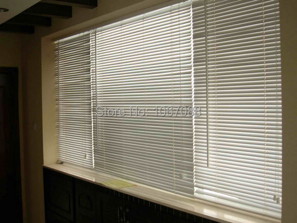 Custom Made Aluminum Horizontal Window Blinds 1 Inch Slats Inside