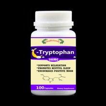 Tryptophan 99% L-Tryptophan 100 шт/бутылка-Поддержка Релаксация продвижение результат помощь для сна поддержка положительного настроения, бесплатная доставка
