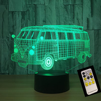 School Bus Remote Or Touch Control USB Line Battery Operated Light Creative 3D LED Light 7