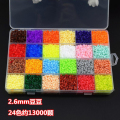 24 Color box set de 2.6mm Hama Beads Perler Beads Perlas de Fusibles rompecabezas diy envío libre