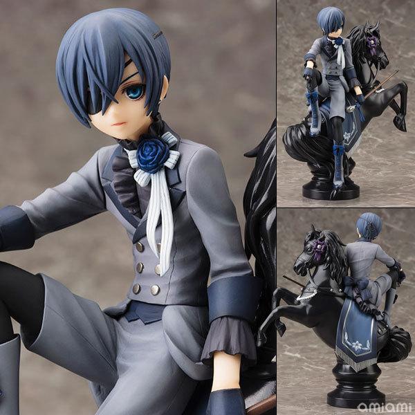 Black Butler Book of Circus Kuroshitsuji Ciel PVC Anime Action Figure Collectible 18cm Model Toy