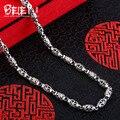 Beier nueva tienda 100% 925 plata esterlina collares colgantes de moda collar de cadenas de joyería fina para las mujeres/hombres br925xl042