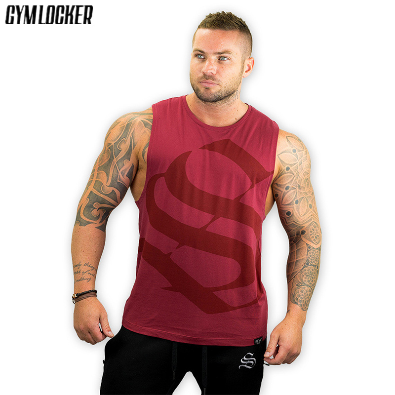 Galleria fotografica Brand mens sleeveless <font><b>t</b></font> shirts Summer Cotton Male Tank Tops gyms Clothing Bodybuilding Undershirt <font><b>Golds</b></font> Fitness tanktops tees