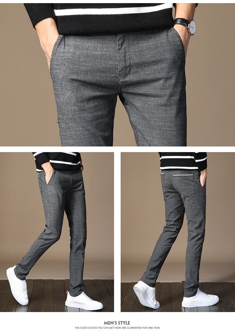 HTB1ndL2oiMnBKNjSZFzq6A qVXaL MRMT 2019 Brand Mens Spring And Summer Casual Pants Men Striped Micro Elastic Straight Trousers