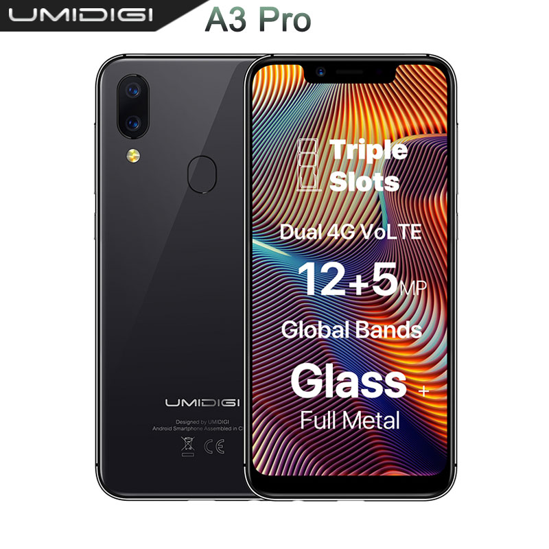 UMIDIGI A3 Pro smartphone Globale Della Fascia 5.7 quot199 FullScreen mobile phone 3 GB+32 GB Quad Core Android 8.1 cell phones