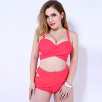 Sexy Young Girl Big Size Bikini FKS6826 Fashion 3XL 4XL 5XL Biquinis Plus Bathing Suit Brand