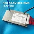 Envío Gratis 15 S 55.5 V 30A BMS 30A corriente continua 1500 W BMS utilizados para el paquete de baterías de iones de litio Con la función equilibrio