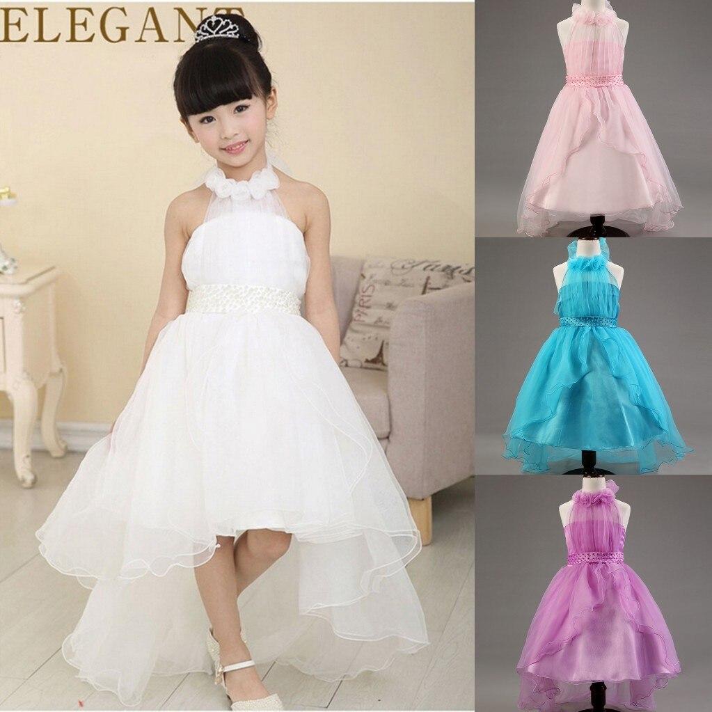 2015 Summer Girls Wedding Dress Romantic Chiffon Fancy Kids ...