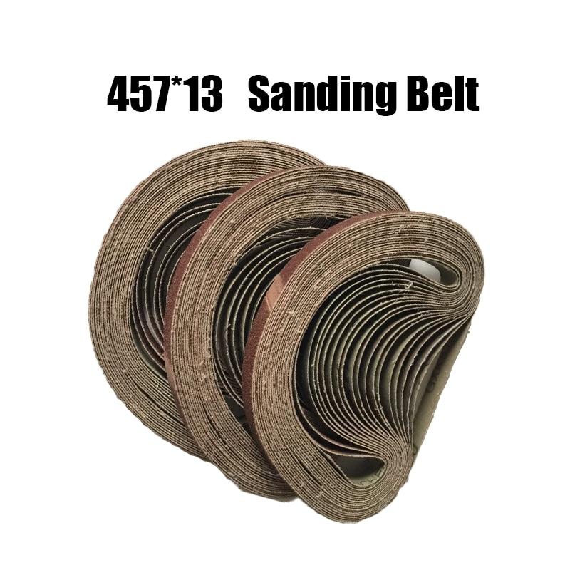 10 Pieces 457*13mm Abrasive Sanding Belts 457X13 P40-240 Coarse To Fine Grinding Belt Grinder Accessories
