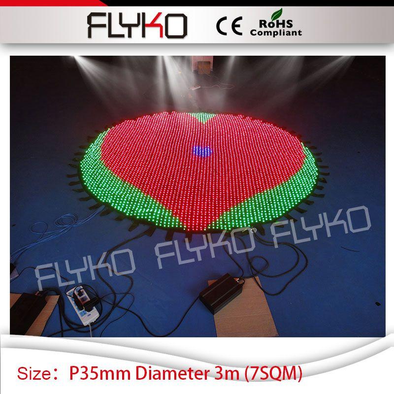 Round circle P3.5cm dj disco item flexible soft led video curtain Diameter 3m stage booth|dj disco|led video curtain|video curtain - title=