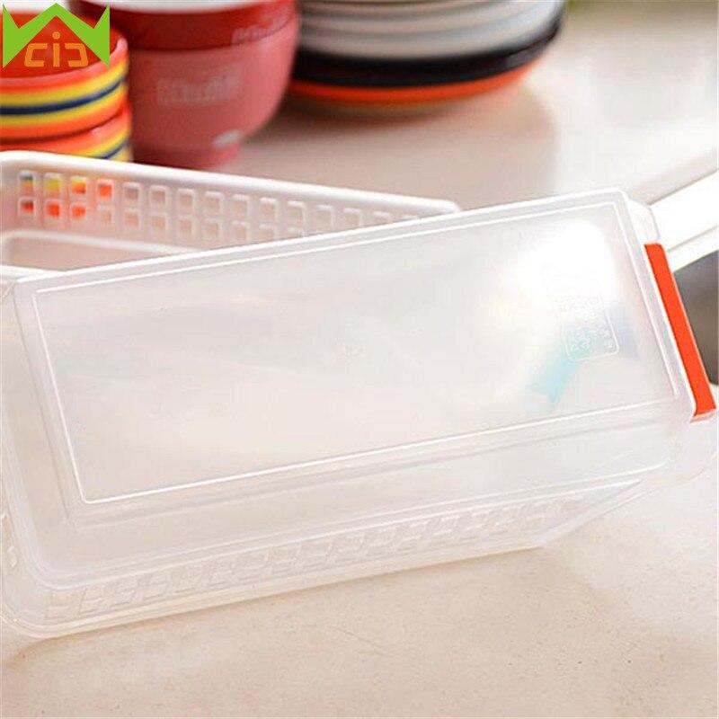 WCIC Plastic Refrigerator Storage Boxes Fridge Food Storage
