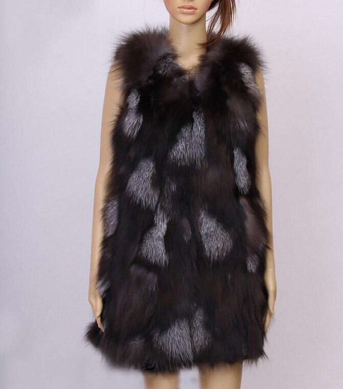 Новое поступление натуральный Лисий мех жилет натуральный Лисий женский зимний жилет Модный FP577