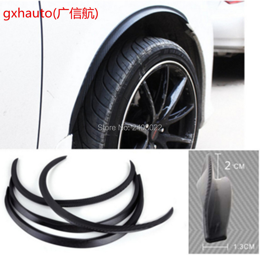 4pcs Car Arch Wheel Fender Flare Extension Protector Lip Anti-Scratch Soft Strip Wheel Lip Fender Flares Car Styling